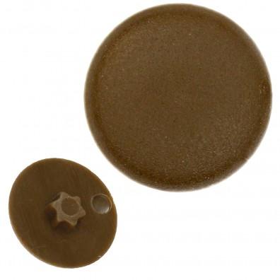 Kappen für Senkschrauben mit Torx-Antrieb - Dunkelbraun (RAL 8014)