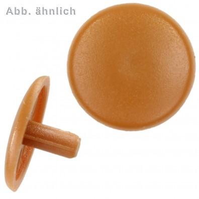 1000 Abdeckkappen m. Stift - Ø Kappen=12mm Ø Stift=2,5mm - hellbraun(RAL 8001)