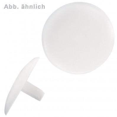 Abdeckkappen mit Stift für Schrauben mit Kopfloch - weiß (RAL9010)