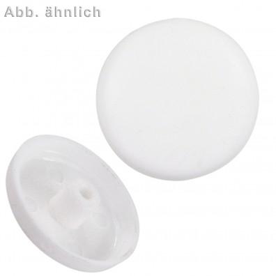 100 FISCHER Abdeckkappen ADM 10 - Kunststoff - weiß - für Metallrahmendübel F-M