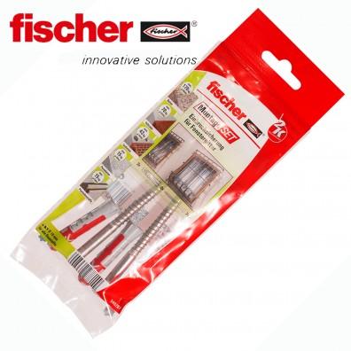 6 tlg. FISCHER DUOPOWER Nylon-Dübel Montage-Set - Einbruchsicherung Fenstergitter