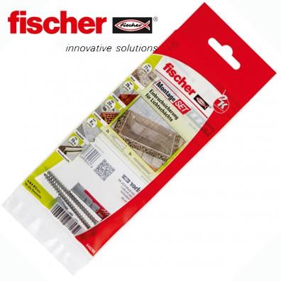 4 tlg. FISCHER DUOPOWER Nylon-Dübel Montage-Set - Einbruchsicherung Lichtschacht