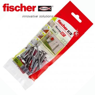 22 tlg. FISCHER DUOPOWER Nylon-Dübel Montage-Set - Schlauch / Garten