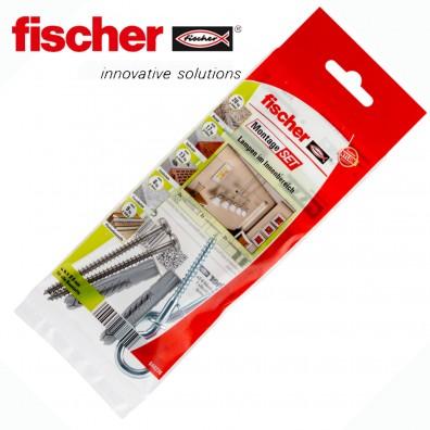 6 tlg. FISCHER UX R Universaldübel Montage-Set - Lampen im Innenbereich