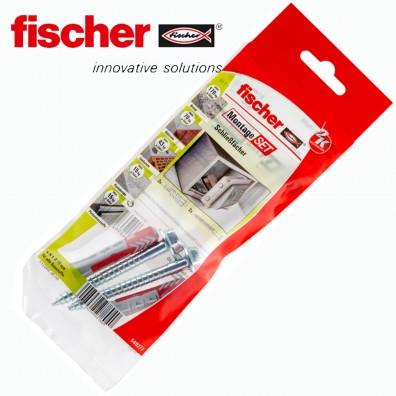 4 tlg. FISCHER DUOPOWER Nylon-Dübel Montage-Set - Schließfächer