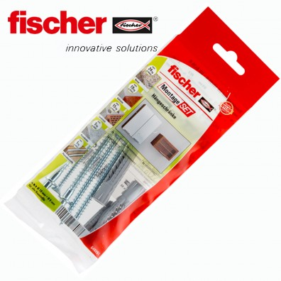 8 tlg. FISCHER UX R Universaldübel Montage-Set - Hängeschrank