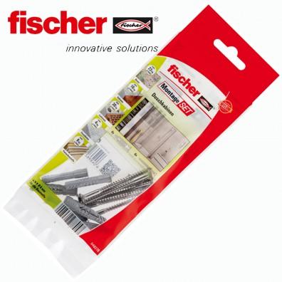 12 tlg. FISCHER UX R Universaldübel Montage-Set - Duschkabine