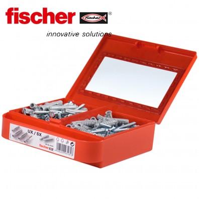 FISCHER Montagebox - Universaldübel UX, Spreizdübel SX, Senkkopfschrauben