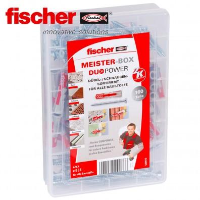 160 tlg. FISCHER DUOPOWER Nylon-Dübel-Sortiment mit Schrauben - in der Meister-Box