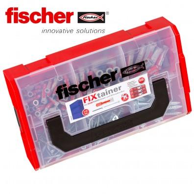 210 tlg. FISCHER DUOPOWER Nylon-Dübel-Sortiment mit Schrauben - im FIXtainer