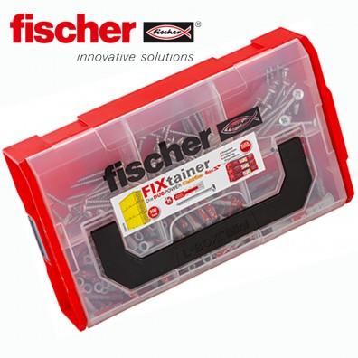 300 tlg. FISCHER DUOPOWER Nylon-Dübel-Sortiment mit Schrauben - Elektro-Box - im FIXtainer