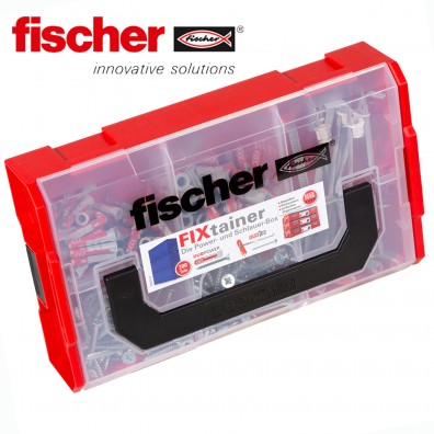 200 tlg. FISCHER DUOLINE Nylon-Dübel-Sortiment mit Schrauben - im FIXtainer