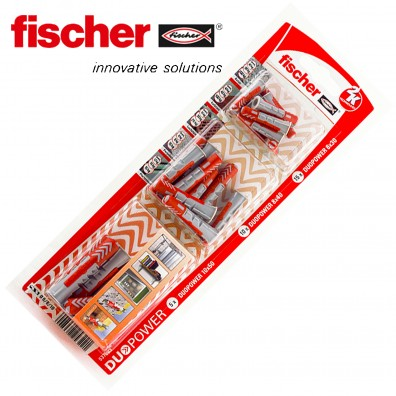 30 tlg. FISCHER DUOPOWER Nylon-Dübel-Sortiment