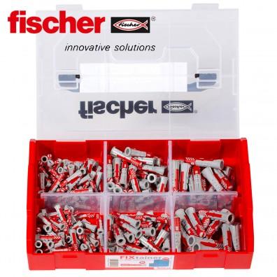 210 tlg. FISCHER DUOPOWER Nylon-Dübel-Sortiment - im FIXtainer