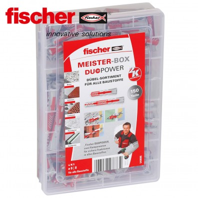 150 tlg. FISCHER DUOPOWER Nylon-Dübel-Sortiment - in der Meister-Box