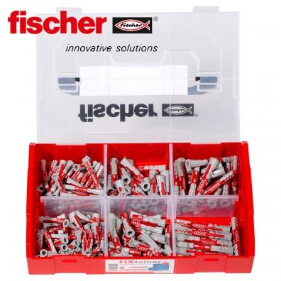 210 tlg. FISCHER DUOPOWER Nylon-Dübel-Sortiment - Tiefenbiss-Box - im FIXtainer