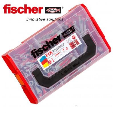 105 tlg. FISCHER DUOLINE Nylon-Dübel-Sortiment - Sanitärbox - im FIXtainer