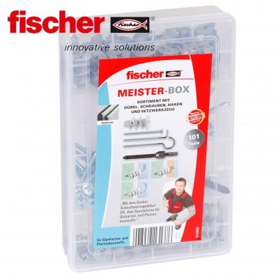 FISCHER Meister Box - Gipskartondübel, Schrauben und Haken