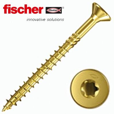 fischer Power-Fast Spanplattenschrauben - Teilgewinde - Innenstern (TX) - Senkkopf - verzinkt