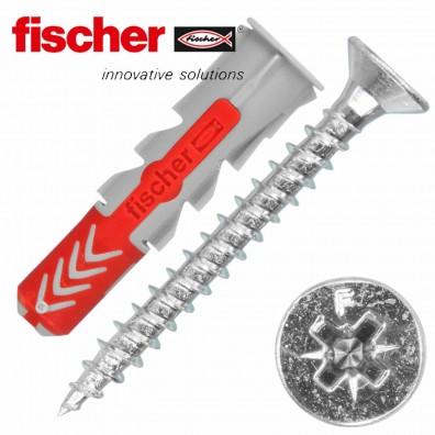 FISCHER DUOPOWER Nylon-Dübel - mit Senkkopfschraube
