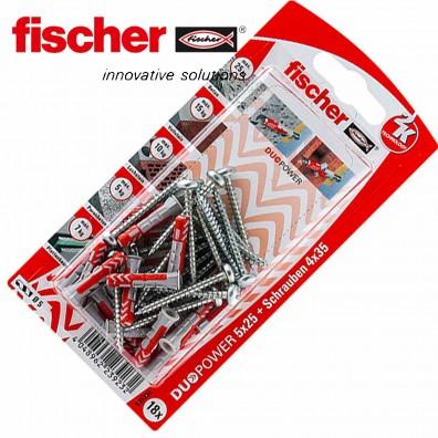 Fischer DUOPOWER Nylon-Dübel - mit Panheadschraube