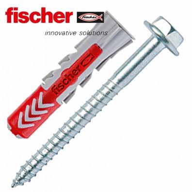FISCHER DUOPOWER Nylon-Dübel - mit Sechskantschraube - Edelstahl