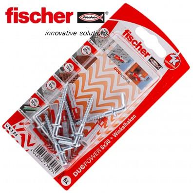 FISCHER DUOPOWER Nylon-Dübel - mit Winkelhaken