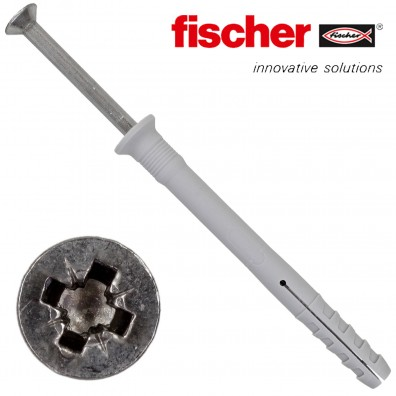 FISCHER Nageldübel N-S - Senkkopf - Edelstahl A2 - Pozidriv (PZ)