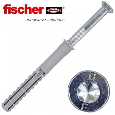 FISCHER Langschaftdübel SXS-T - mit verzinkter Schraube