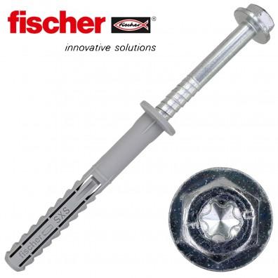 FISCHER Langschaftdübel SXS-F US - mit verzinkter Schraube