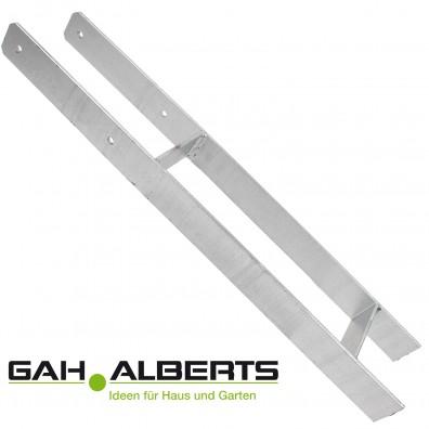Premium H-Pfostenträger - GAH - feuerverzinkt - 5mm stark - 600mm lang