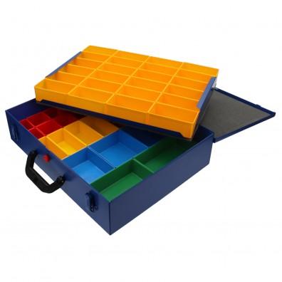 1 Stahlblech Sortimentskasten 440x330x100 mm mit 47 Fächern leer