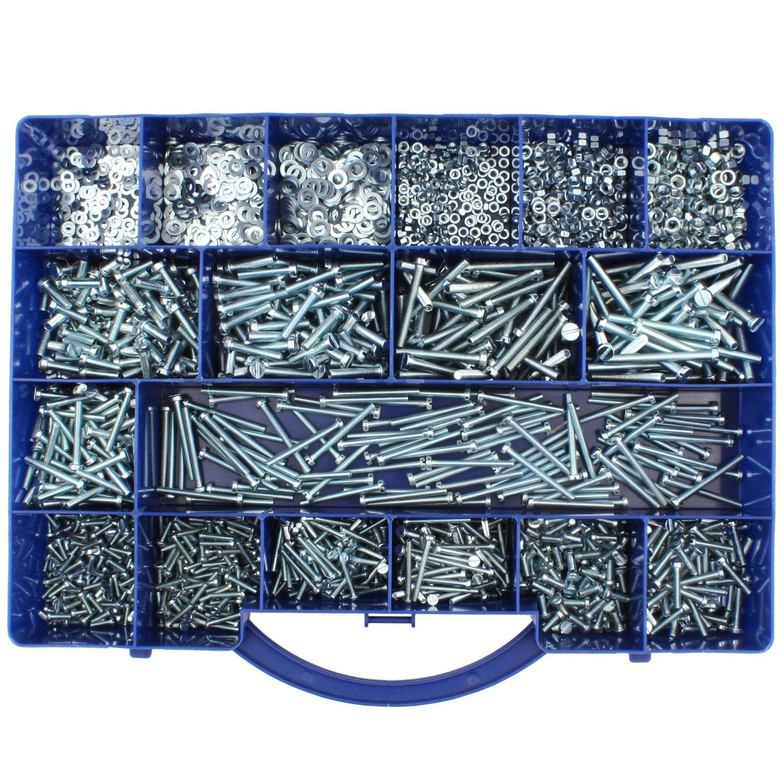 2300 tlg zylinderschrauben muttern u scheiben sortiment din 84 125 934 m3 m5 02040 sort1. Black Bedroom Furniture Sets. Home Design Ideas