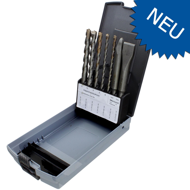 7tlg keil sds plus turbokeil hammerbohrer meissel set 05613 sort7. Black Bedroom Furniture Sets. Home Design Ideas