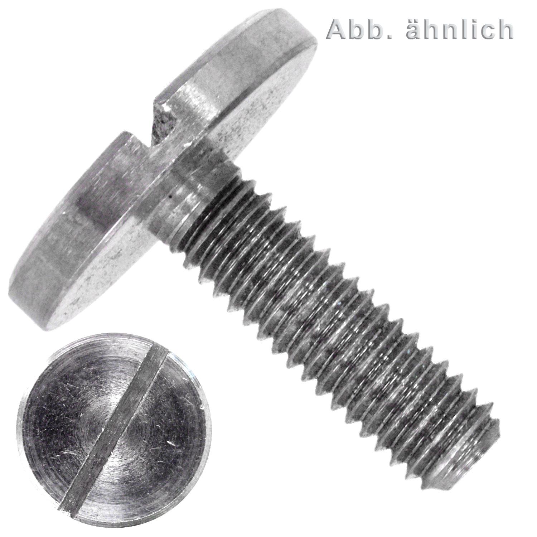 10 St/ück Schulterdurchmesser 5 mm SZHKM Schulterschraube M3 Schrauben Schlitzkopf Schlitz Toleranz Flachkopf Flachkopf Schraube Teilgewinde metrische Industrie Anwendungen