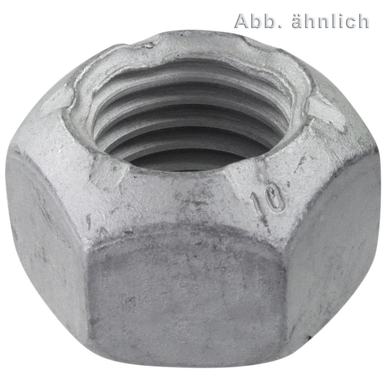 Festigkeit 8 10 Stk DIN 980 Sechskantmutter Stahl  verzinkt