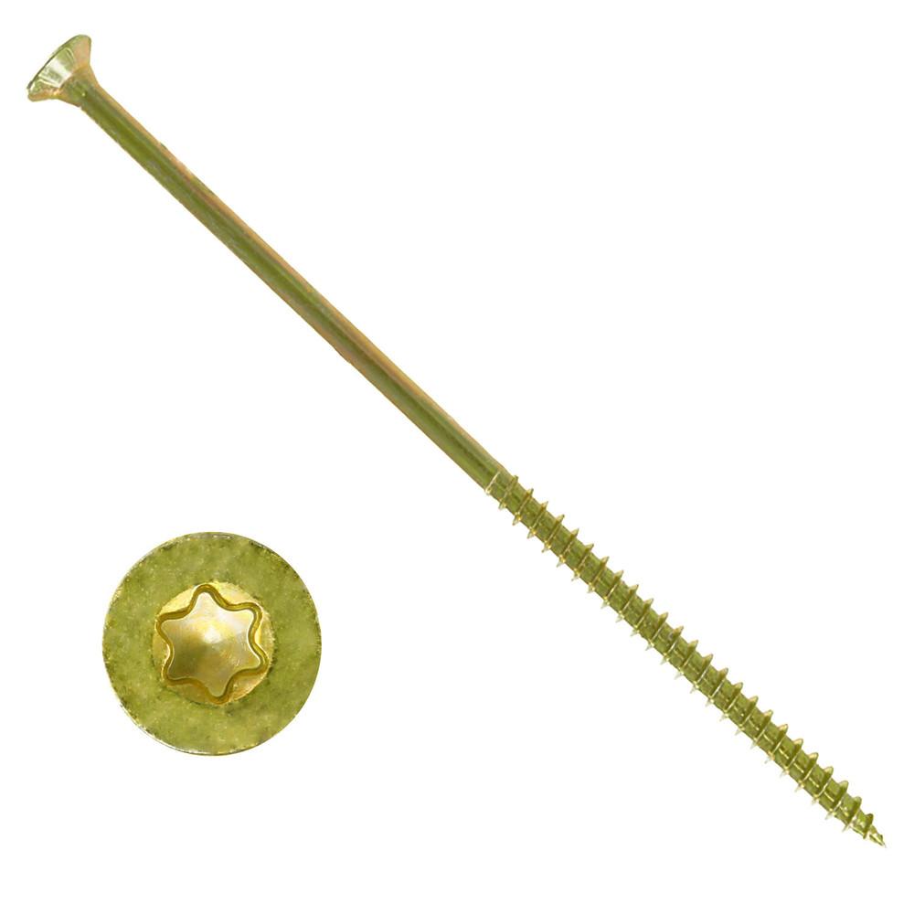 SC200 gelb verzinkt - Senkkopf//Teilgewinde//Fr/äsrippen Spanplattenschrauben 6x150 mm I-Stern SC-Normteile 200 St/ück TX30