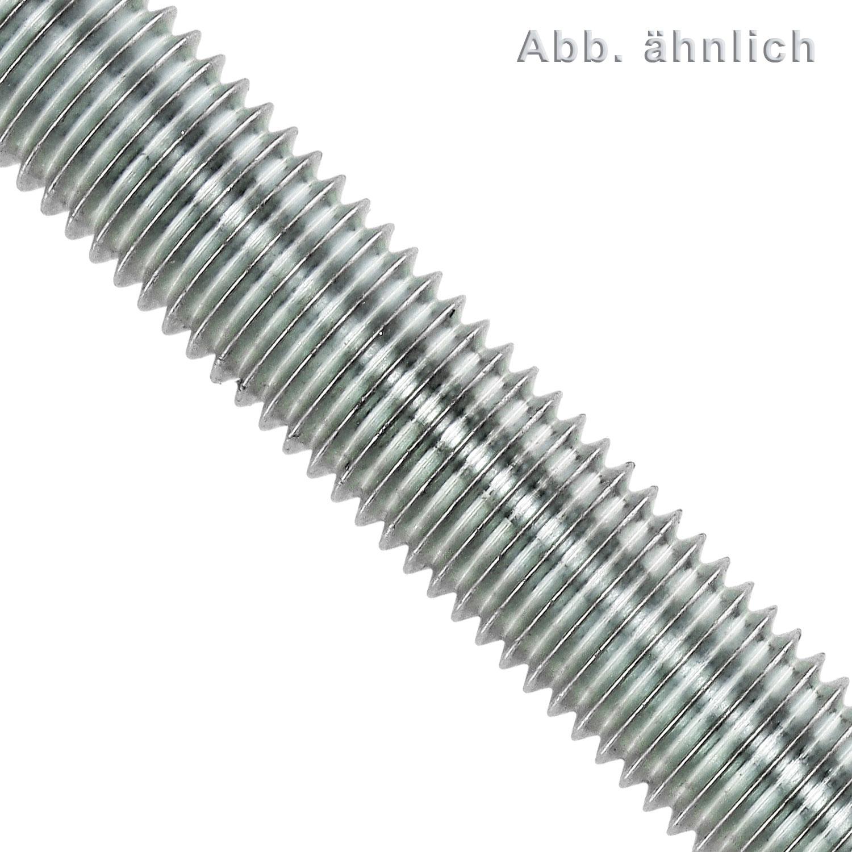 Gewindestange M5 M6 M8 M10 M12 M14 M16 verzinkt Stahl DIN 976 975 Gewindebolzen