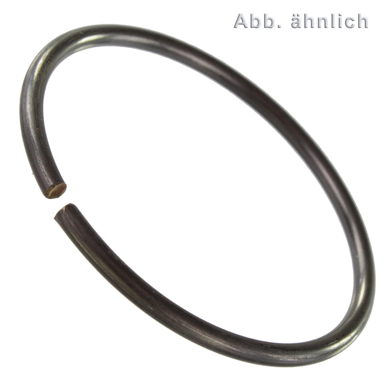 25 St/ück 32 mm Runddraht Sprengring Sicherungsring DIN 7993 Form A f/ür Welle