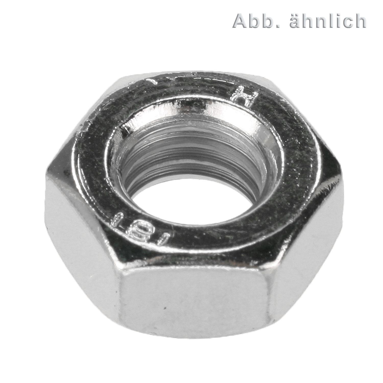 M24 Sechskantmuttern  DIN934 Stahl schwarz blank Festigkeit 10  M3