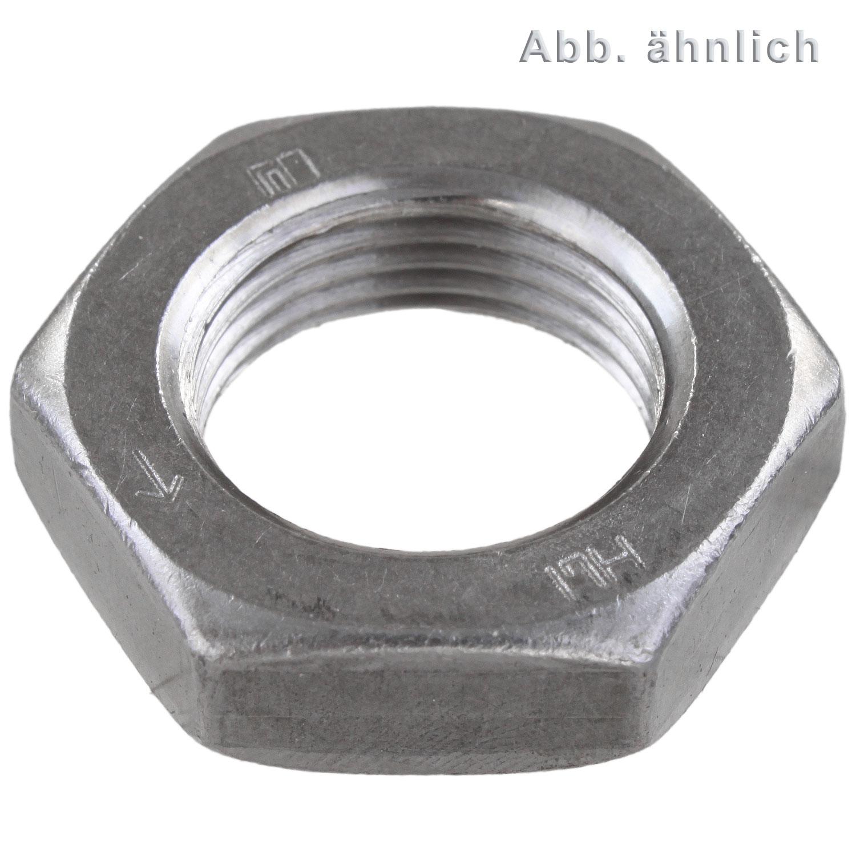 Sechskantmuttern niedrige Form DIN 936 17 H Stahl galvanisch verzinkt Wyroby żelazne Majsterkowanie