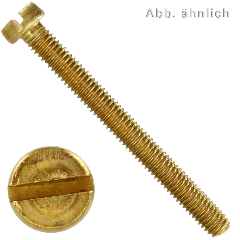 Zylinderschrauben mit Schlitz DIN 84 Messing blank M 6 M 10