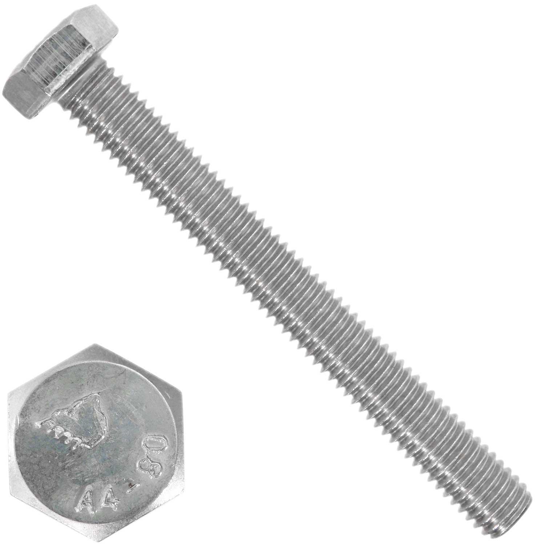 Edelstahl A2-70 Gewinde bis Kopf M14x 35 25 St/ück Sechskantschrauben DIN 933