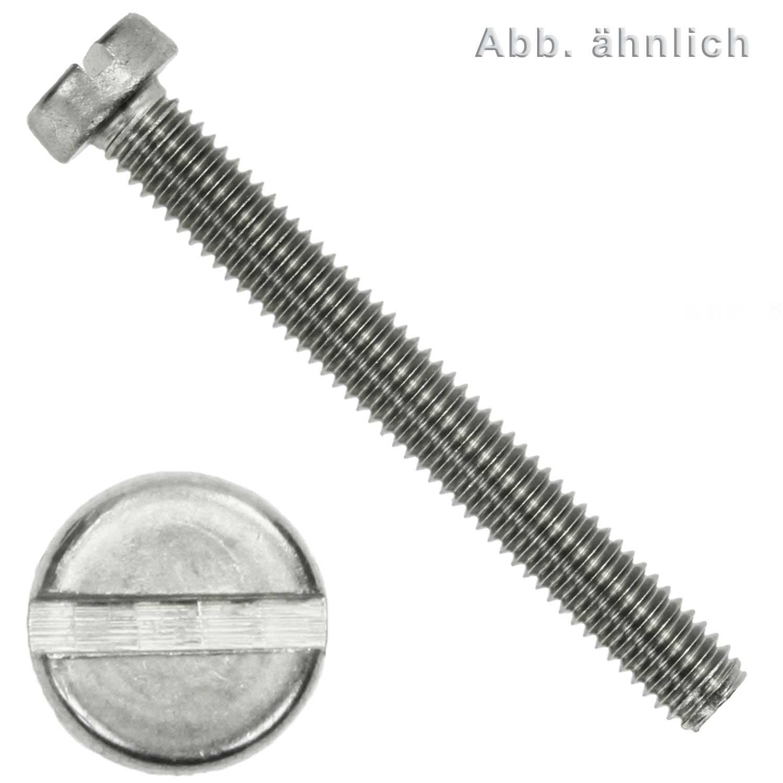 50 Stück M2 X 8 Schlitzschrauben DIN 84 Edelstahl A2