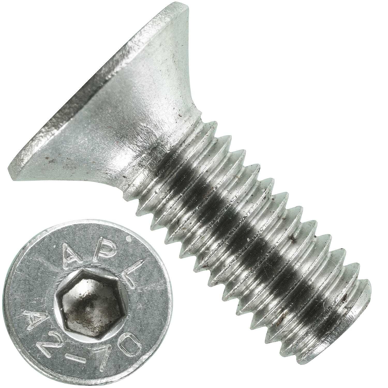 Edelstahl 25 St Innensechskant- M 6 mm Senkkopfschrauben D 7991 M 6x12 A2