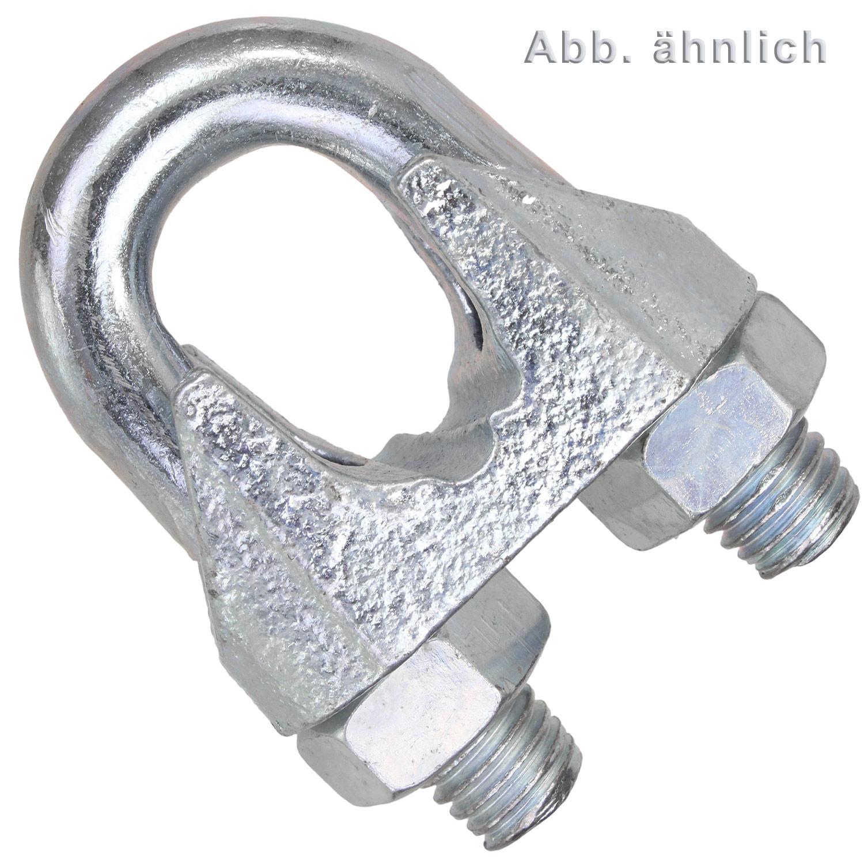 DIN 741 verzinkt Seil ø 11 mm Drahtseilklemme ähnl