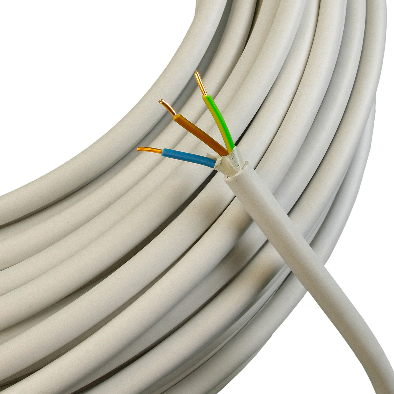 NYM J 3x1,5mm Mantelleitung Elektroleitung Kabel Elektroinstallation a 50 Meter