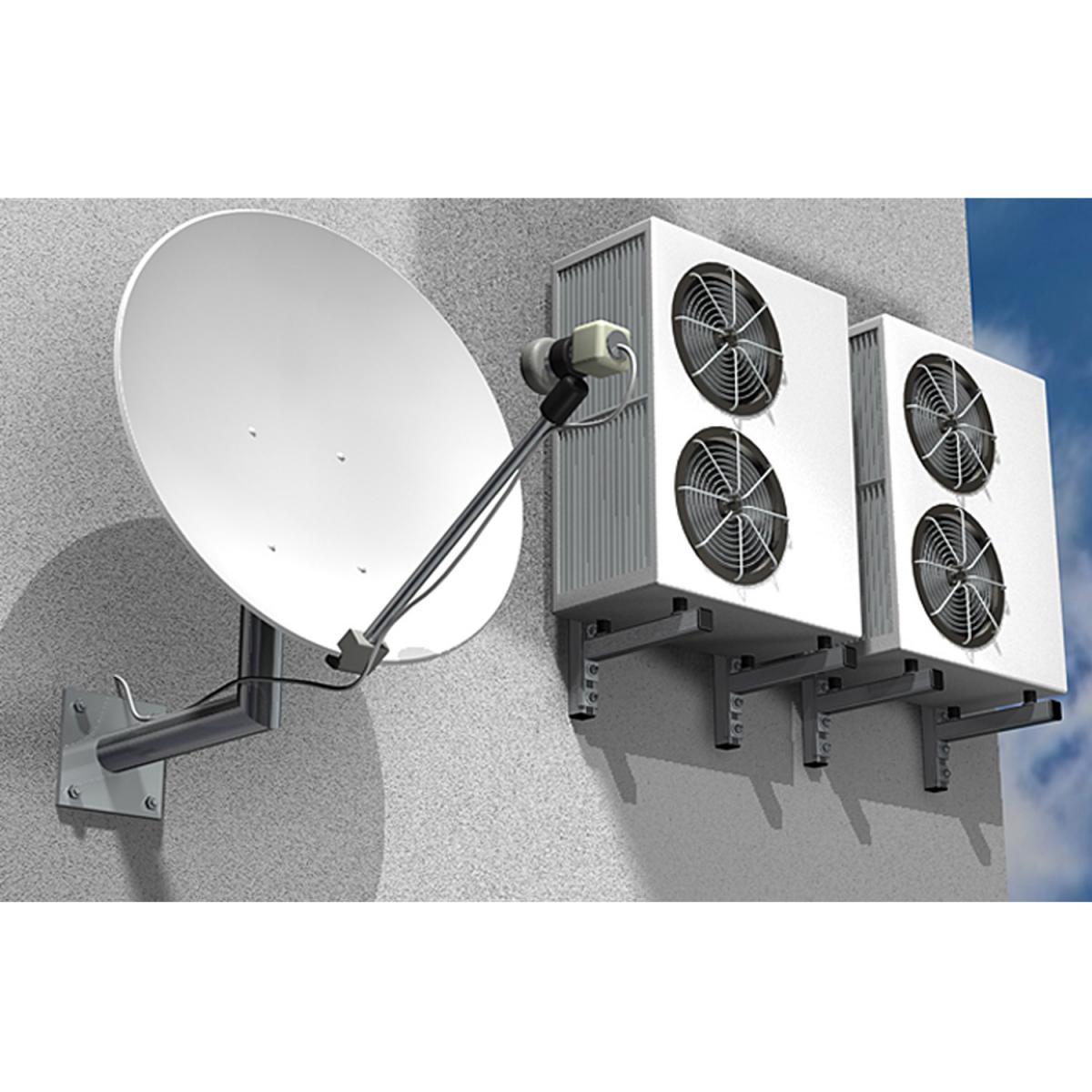 Satelliten- und Klimaanlage