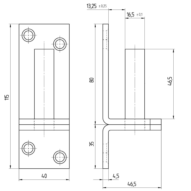 Plattenhaken Kloben zum Aufschrauben gelb-verzinkt D1 10 mm-Dorn