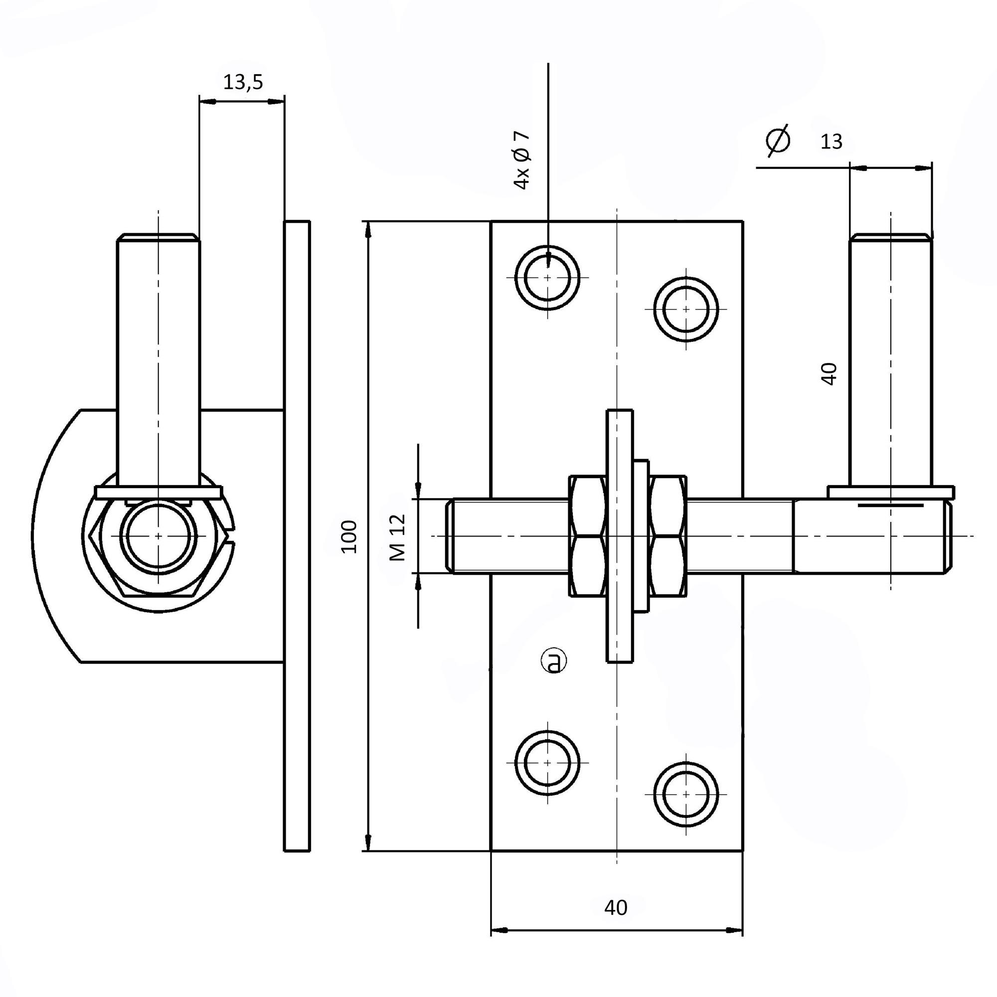 gah edelstahl kloben - verstellbar - 13mm dorn